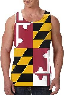 Men's Tank Top Flag of Maryland Custom Workout Vest Sleeveless Shirts