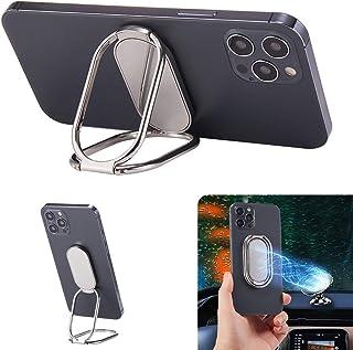 Soporte de anillo de teléfono extraíble con función atril plegable para teléfono celular, rotación de 360 grados, agarre d...