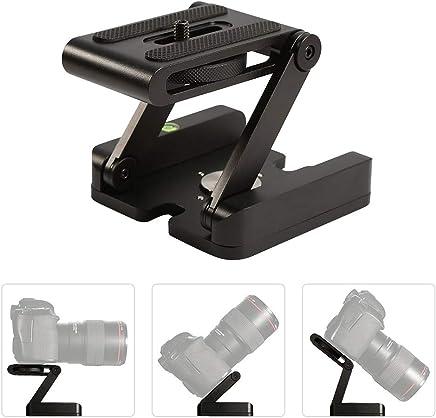 Z Flex Tilt Tripod Head Aluminum Alloy Folding Z Tilt Head Quick Release Plate Stand Holder
