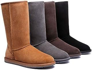 HomeWork&Play UGG Boots Tall Classic - 100% Premium Double Faced Australian Sheepskin,Non-Slip