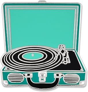Retro Vinyl Record Player Music Trendy Enamel Lapel Pin