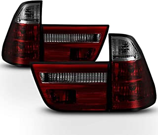 ACANII - For 2000-2006 BMW E53 X5 Red Smoked Tail Lights Brake Lamps Replacement Driver & Passenger Side