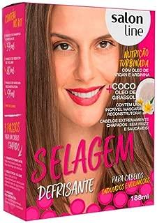 Salon Line - Linha Transformacao (Escovas) - Kit Selagem Defrisante para Cabelos Ondulados ou Volumosos (1 Shampoo Purificante 54 Ml, 1 Redutor de Volume 80 Ml e 1 Mascara Reconstrutora 54 Ml)