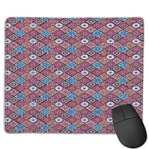 Benutzerdefinierte Office-Mauspad,Luxus orientalische Fliese,Anti-Rutsch-Gummibasis Gaming Mouse Pad Mat Desk Decor 9.8