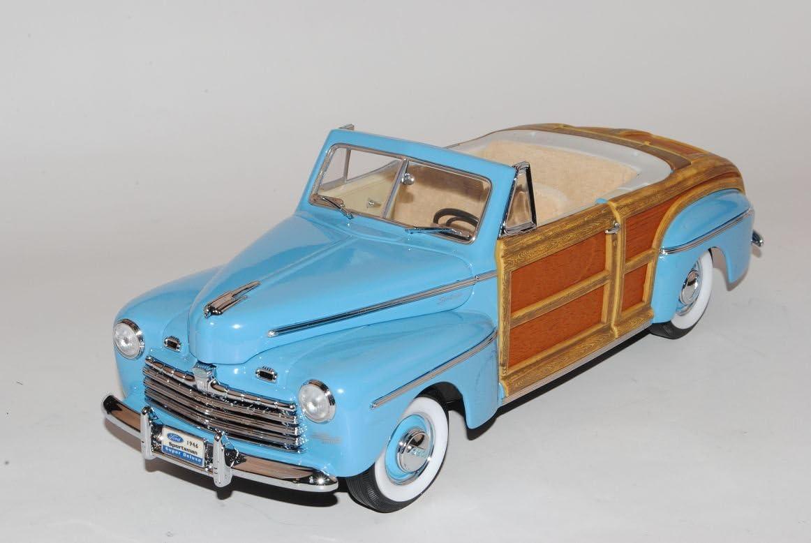 Ford Sportsman 1946 Cabrio Blau 1//18 Yatming Modell Auto mit individiuellem Wunschkennzeichen