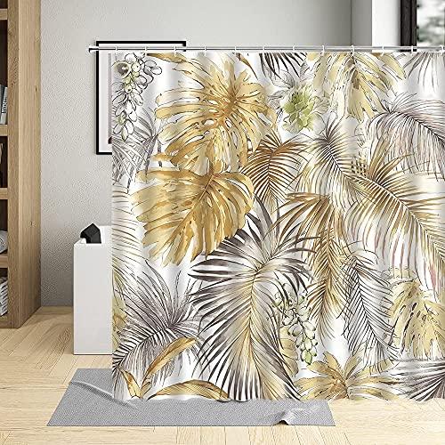 Shower Curtain Cortina de Ducha para baño Rejas de Ventana y Puertas de Madera. 180*180cm para decoración de baño Impermeable Y Fácil De Limpiar. Impresión 3D HD. Gancho Libre.