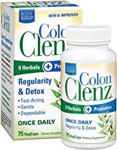 Body Gold Colon Clenz Regularity & Detox Formula   Once Daily Support with 9 Herbs + Active Probiotics   75 CT