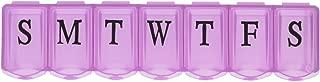 Apex 7-Day Ultra Bubble-Lok Pill Organizer (Large, Translucent Pink)