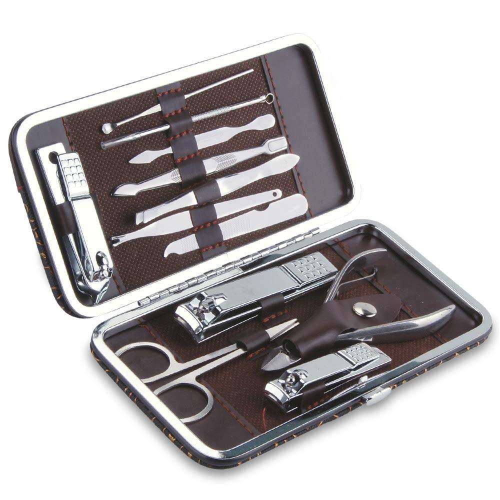 Ze 100Sets de Acero Inoxidable cortaúñas cortaúñas Trimmer Ear Pick Kit de Aseo manicura pedicura Dedo del pie Herramientas de uñas con Estuche: Amazon.es: Hogar