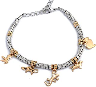 Beloved ❤ Bracciale con charms e cristalli , braccialetto donna e ragazza ,  con ciondoli ,