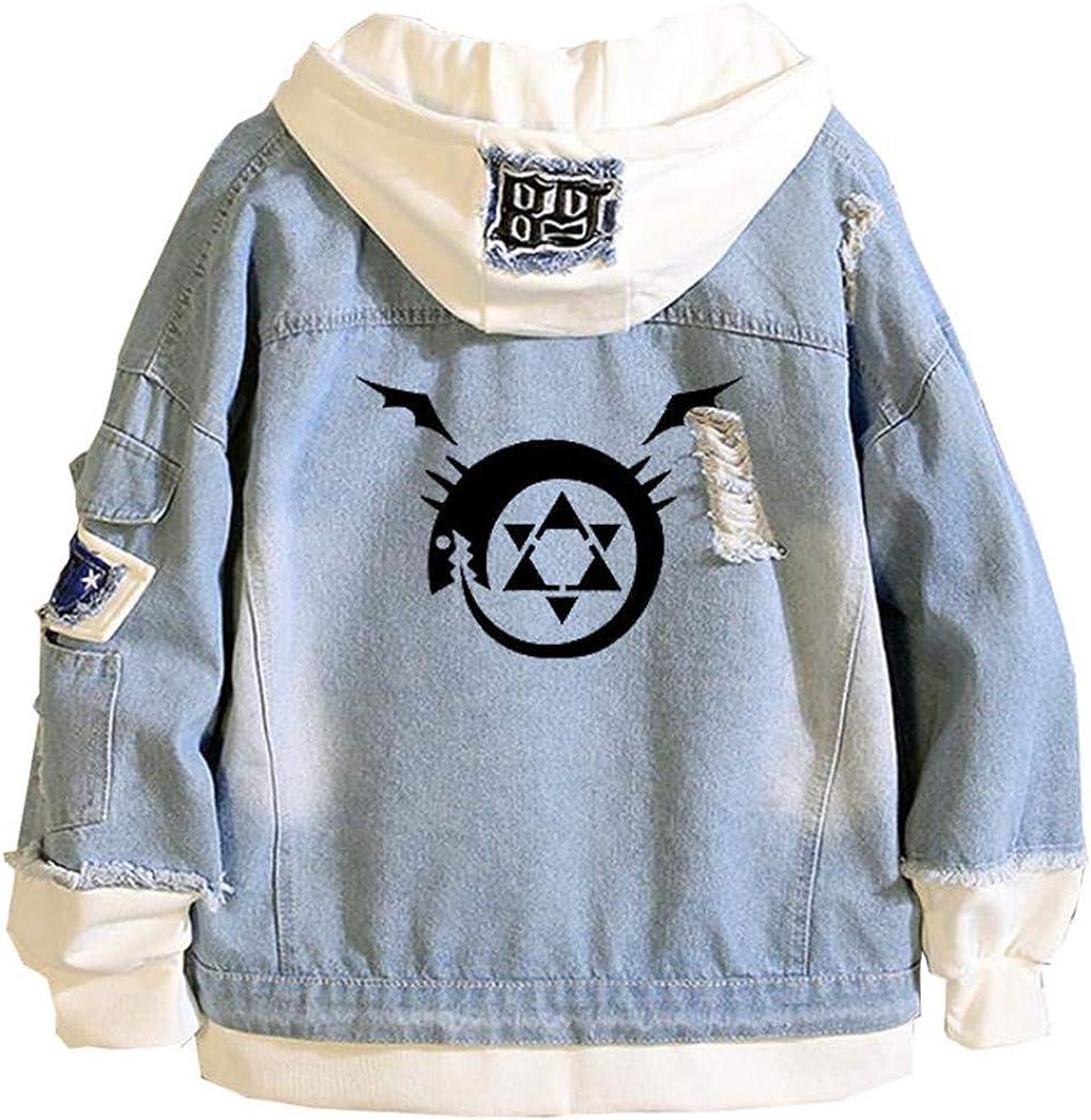Gumstyle Max 85% OFF Anime Fullmetal Sale price Alchemist Denim Cos Adult Hoodie Jacket