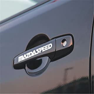 4pc White Black Car Sports Doorhandle Sticker Body Decal Styling Auto For Mazdaspeed Mazda Speed 2 3 4 5 6 CX-5 CX5 CX-3 CX-4 CX-7 CX-9