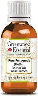 Greenwood Essential Pure Fenugreek (Methi) Carrier Oil (Trigonella foenumgraecum) 100% Natural Therapeutic Grade Cold Pressed 15ml (0.50 oz)