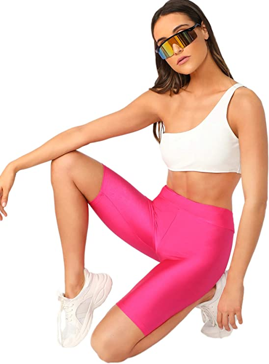 1980s Clothing, Fashion | 80s Style Clothes SweatyRocks Womens Sexy Lace Trim Slip Shorts Yoga Bike Active Short Leggings  AT vintagedancer.com