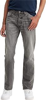 Levi's Erkek Düz Kesim Kot Pantolon 501 LEVI'SORIGINAL FIT WATERFLOOD, Gri, W55 (Üretici Ölçüsü 32)