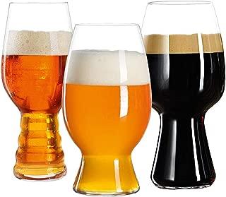 Spiegelau 4991693 Beer Glasses Bar Kit Craft Tasting Mugs, Set of 3, Clear