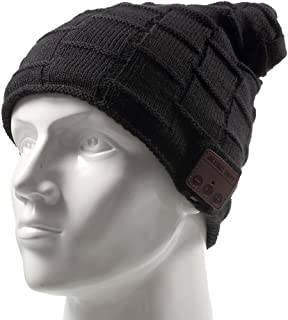 low priced 8883f d3646 Wireless Music Hat Winter Knit Beanie Hat Built in Microphone HD Stereo  Speaker Headphone for Men