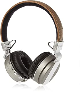 ZAKK Hunter Wireless and Wired Bluetooth Over Ear Headphones Brown/Silver, Microphone, Hands Free, Supports FM Radio, AUX,...