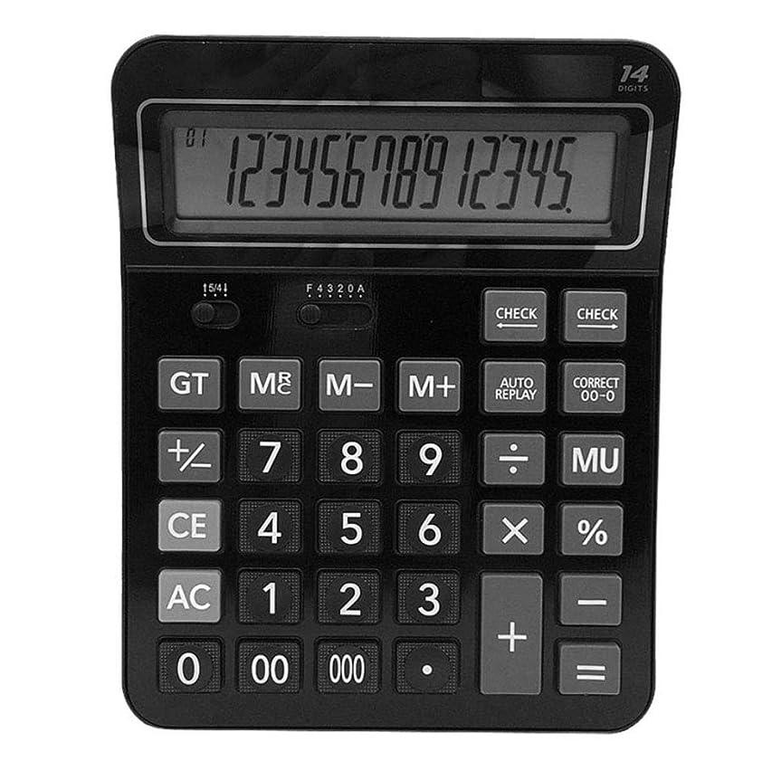 落ちたコスチュームシリング電卓 12ビット 多機能 オフィス 金融 会計用 スペシャルコンピューター デュアル電源 デスクトップ電卓