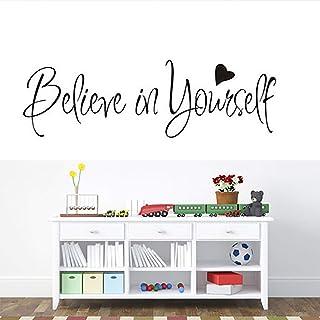 Wall Sticker Motivational Wall Decals Inspirational Wall Decals for Living Room Quotes Wall Decor Sticker for Bedroom Beli...