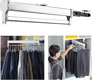 KONFA Push-Pull Armoire Organisateur Support De Rangement Acier Porte-Vêtements Armoire Coulissant pour Cintre Support Por...
