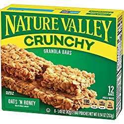 Nature Valley Crunchy Granola Bar Oats 'n Honey  12 ct Bars,8.94 Ounce