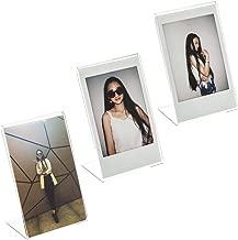 CAIUL Compatible L Model Clear Acrylic Photo Frame for Fujifilm Instax Mini 8 8+ 9 70 7s 90 25 26 50s, Instax SP-2, Polaroid PIC-300 Z2300 Film, 3 pcs