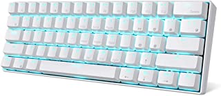 RK ROYAL KLUDGE RK61 61 Keys Wired/Wireless Multi-Device Yellow LED Backlit Mechanical Gaming/Office Keyboard for iOS, And...