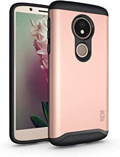 Moto G6 Play Case, TUDIA Slim-Fit Heavy Duty [Merge] Extreme Protection/Rugged but Slim Dual Layer Case for Motorola Moto G6 Play (Rose Gold)