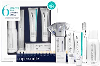 Supersmile Teeth Whitening Set - 6 Minutes to a Whiter Smile, Toothpaste, Accelerator, Toothbrush, Activating Rods, and Pre-Rinse, Original Mint