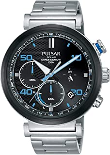 Pulsar active Mens Analog Solar Watch with Stainless Steel bracelet PZ5065X1