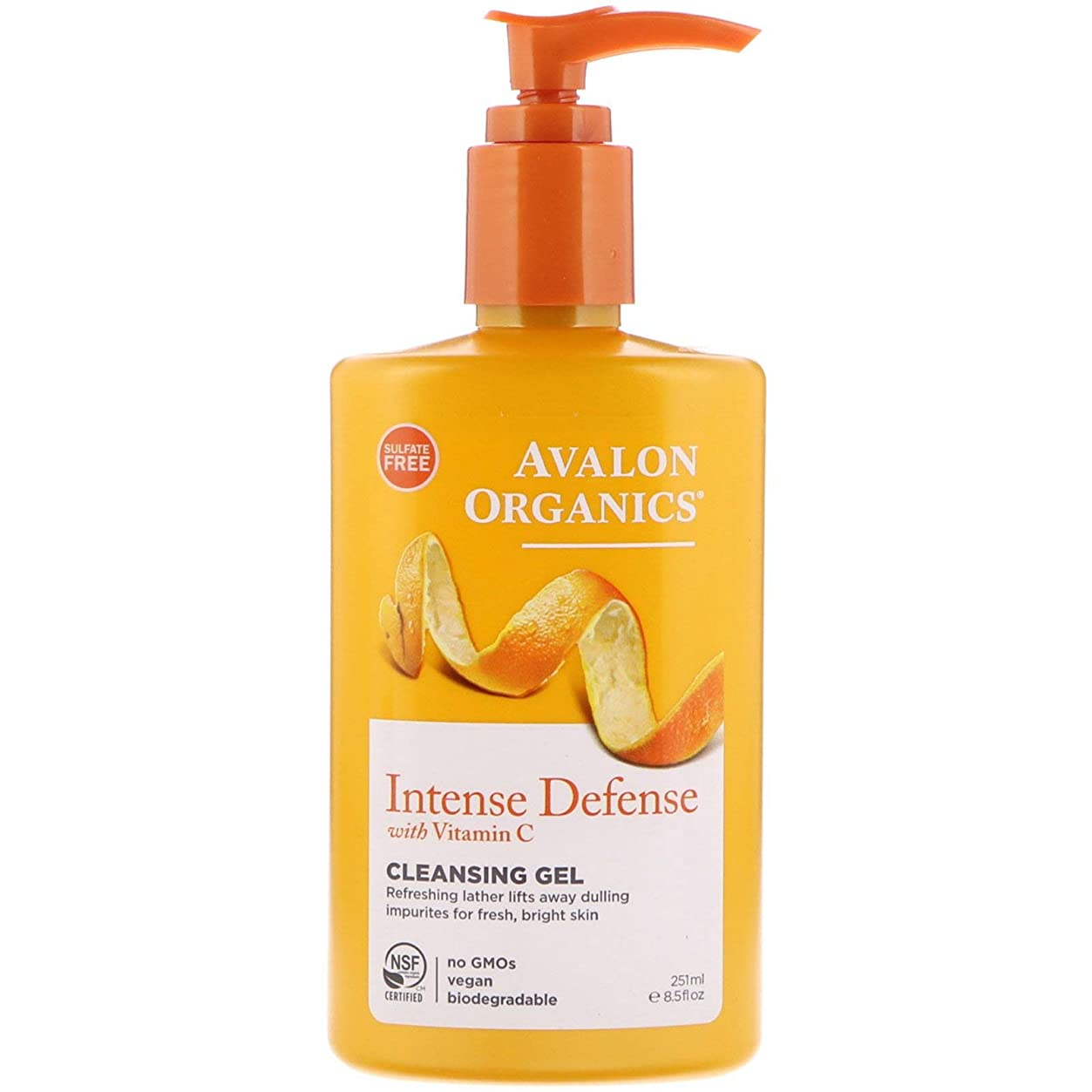 心配する枯渇こするAvalon Organics ビタミンC リニューアル リフレッシング クレンジングジェル 8.5 fl oz (251 ml) [並行輸入品]
