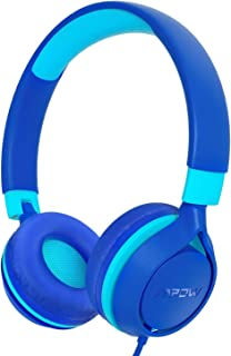 Mpow CHE1 Kids Headphones, Wired Headphones for Kids Teens, Children Headphones with Volume Limit, Foldable Adjustable On-Ear Headphones for School, Travel, Compatible with Cellphones, Tablets, PC