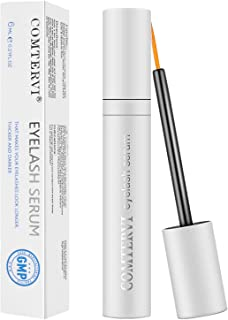 Eyelash Growth Serum,Comtervi Natural Brow Lash Enhancer(6ML),Nourish Damaged Lashes and Boost Rapid Growth for Any Kind of Lash,Grow Longer Thicker and Healthier Eyelashes
