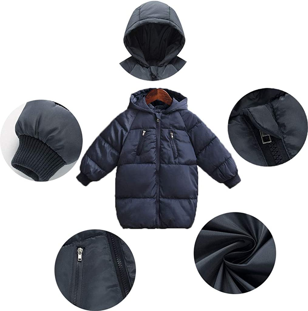 LANBAOSI Kinder Jungen Wintermantel 2 6 Jahre Kleinkind Baby Warm Hooded Puffer Jacke Oberbekleidung
