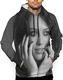 LutherStamm Hilary Duff 3D Printed Funny Pullover Hoodie Sweatshirt for Men