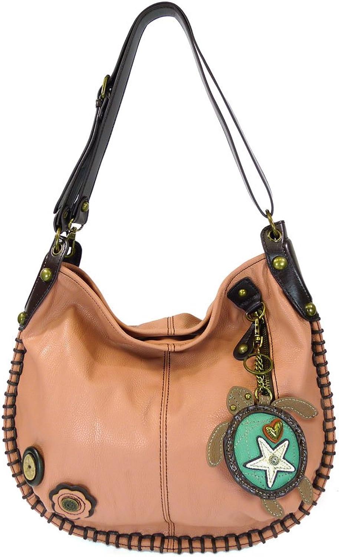 Chala Hobo Crossbody Large Tote Bag SEA TURTLE Vegan leather PINK Congreenible