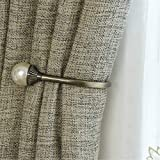 <span class='highlight'>AXROAD</span> <span class='highlight'>MALL</span> 1 Pair Vintage Antique Bronze Curtain Holdbacks,Wall Mounted Decorative Round Pearl Ball End Curtain Drapery Tie Back Hook Holdbacks (Color : Antique bronze, Size : One size)