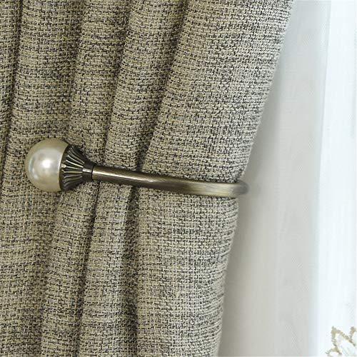 Chlyuan-hm Metall Gardinenhalter Raffhalter EIN Paar Vintage Antik Bronze Vorhang Holdbacks, Wand...