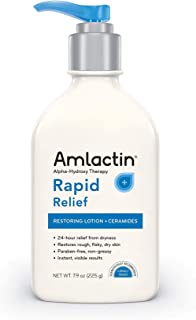 Amlactin Alpha Hydroxy Therapy Rapid Relief Restoring Lotion & Ceramides, 7.9 Oz