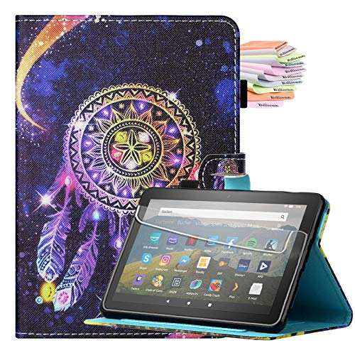 Billionn for Kindle Fire HD 8 Tablet and Fire HD 8 Plus Tablet (10th Generation, 2020 Release) Case, Smart Cover with Auto Sleep/Wake, Starry Sky Wind Chimes