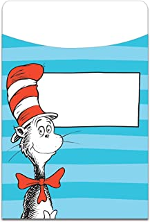 Eureka Dr. Seuss Cat in the Hat Back to School Library Book Pockets, 3.5'' x 5.5'', 35 pc