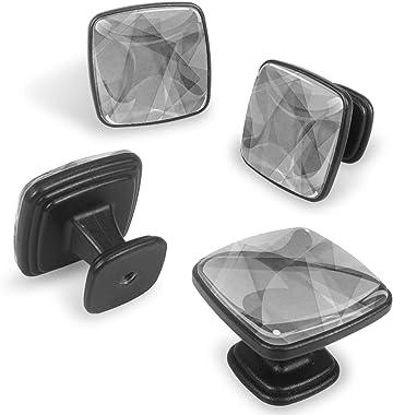 YATELI Perillas de extracción de para gabinetes,armarios,Puertas y cajones de Muebles: se Venden como un Paquete de 4 perilla