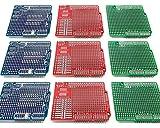 Electrocookie Proto Shield Kit per Arduino Uno R3, scheda PCB Prototipazione di espansione (3 tipi, 9 pezzi)