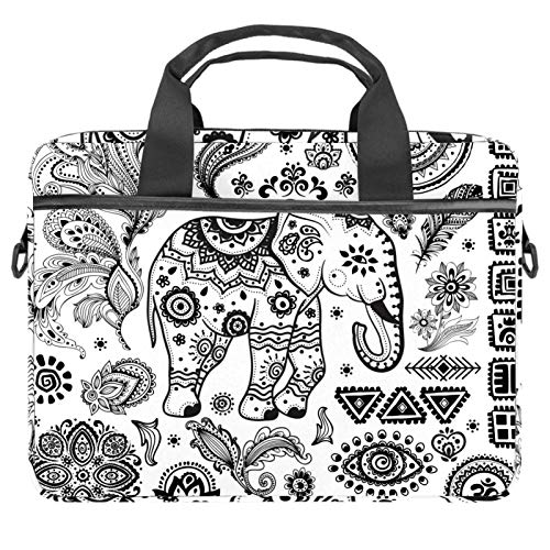 Ethnic MandalaLaptop Case Canvas Pattern Briefcase Sleeve Laptop Shoulder Messenger Bag Case Sleeve for 13.4-14.5 inch Apple Laptop Briefcase