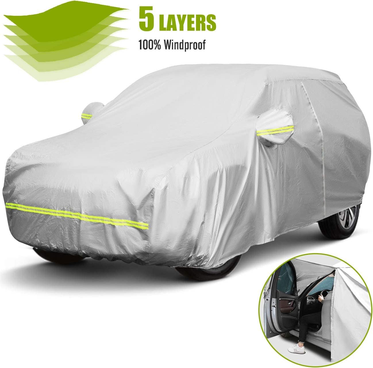 Favoto Car Cover SUV Universal Opening large release sale Fit Las Vegas Mall 188 198 inch to 5