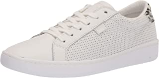 Keds womens Ace Leather Sneaker, Cream/Leopard, 5.5 US