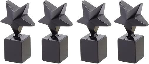 TOMALL Black Star Valve Stem Caps Aluminum for Truck Bike Rim Wheel