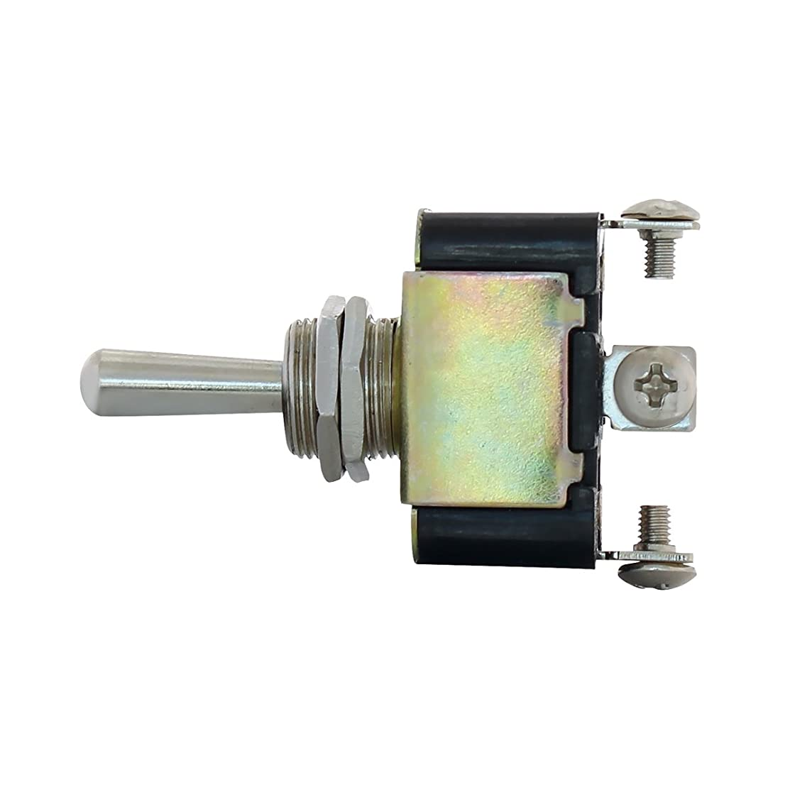 United Pacific 40002 3 PIN, 10 AMP - 12 VOLTS D.C, ON - OFF - ON METAL TOGGLE SWITCH W/ 3 SCREW TERMINALS