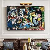 Famoso Pablo Picasso's Les Femmes D'Alger lienzo pintura carteles e impresiones cuadros artísticos de pared para la decoración de la pared de la sala de estar Cuadro 40X60cm enmarcado